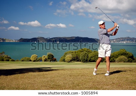 Golf - the iron shot - stock photo