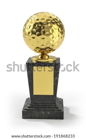Golf trophy - stock photo