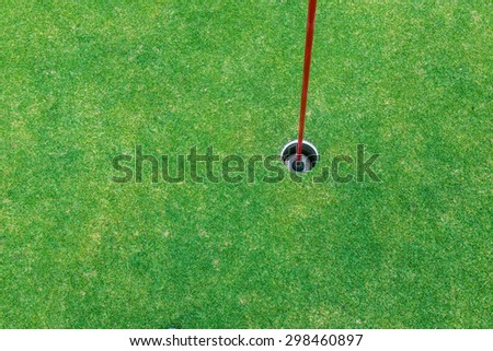 Golfing Green - Hole in One - stock photo