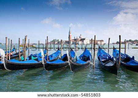 Gondeln in Venedig, Italien - stock photo