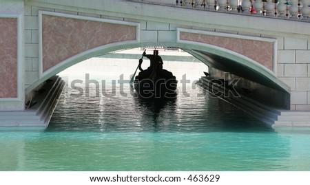 Gondolier, Venetian Hotel, Las Vegas - stock photo