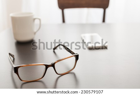 Gone for a meeting - stock photo