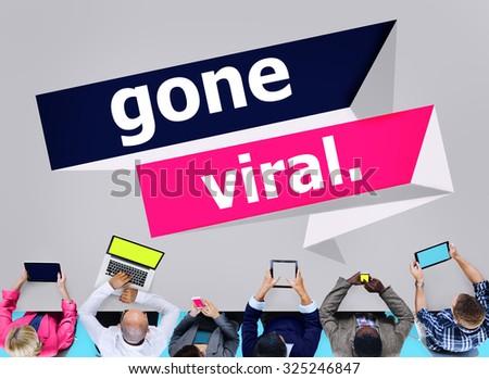 Gone Vial Popular Social Media Networking Concept - stock photo