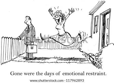 Gone were the days of emotional restraint. - stock photo