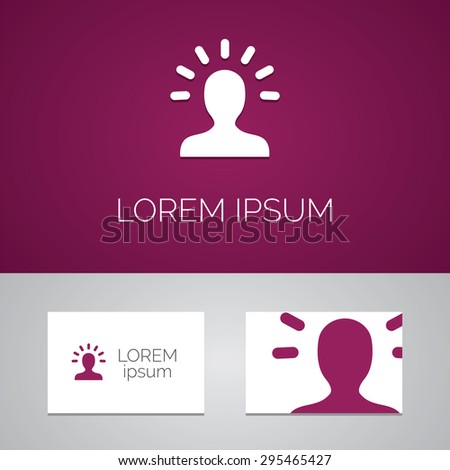 good idea logo template icon design elements with business card  - stock photo