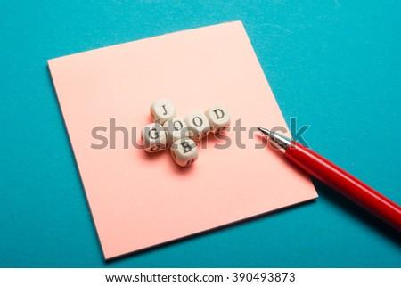 GOOD JOB text on a wooden cubes - stock photo