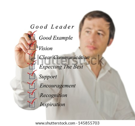 Good leader - stock photo