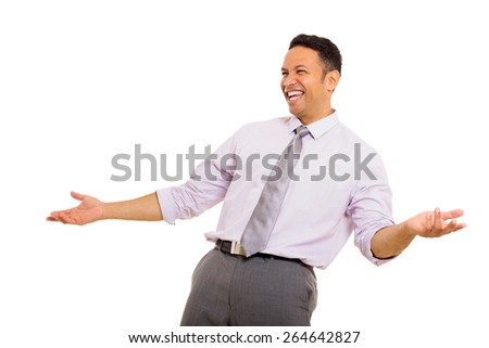 good looking mid age businessman laughing - stock photo