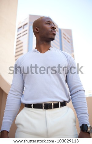 Good Looking young African American Man - stock photo