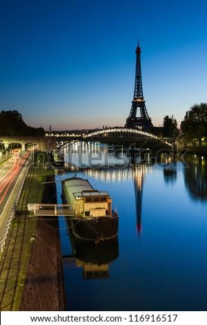 Good morning Eiffel, Paris, France - stock photo