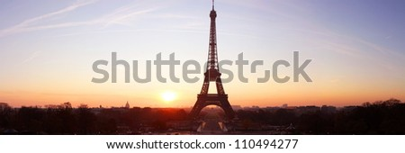 Good morning, Paris, Good morning Tour Eiffel - stock photo
