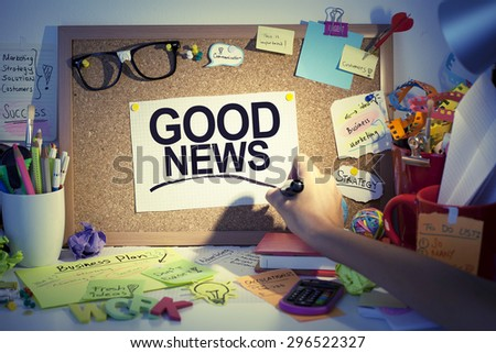 Good News - stock photo