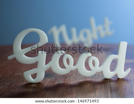 Good Night with Blue Light Background. - stock photo