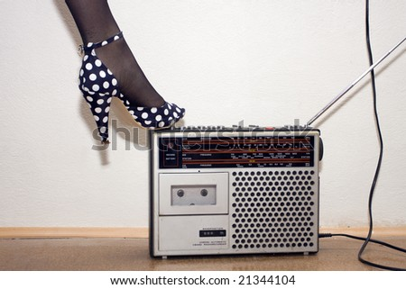 good old radio - stock photo