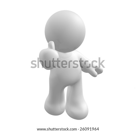Good works, thumb up! - stock photo