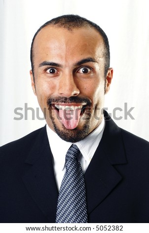 Goofy Businessman - stock photo