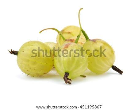 Gooseberries on a white background      - stock photo