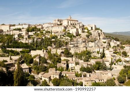 Gordes medieval village - France  - stock photo