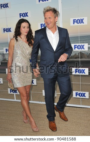 Gordon Ramsay & wife Tana at the Fox TV Summer 2011 All-Star Party at Gladstones Restaurant, Malibu. August 5, 2011  Malibu, CA Picture: Paul Smith / Featureflash - stock photo