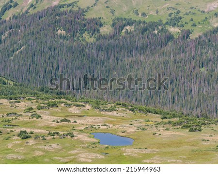 Gore Range Overlook, Rocky Mountain - stock photo