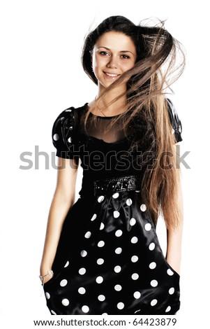 Gorgeous brunette - stock photo