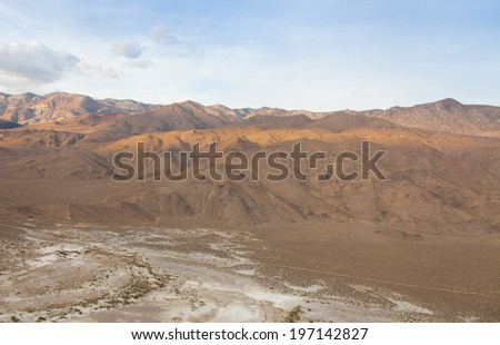 Gorgeous desert mountains with deep rich colors - stock photo