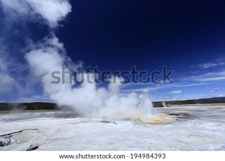 Gorgeous geyser at Yellowstone national park, USA - stock photo