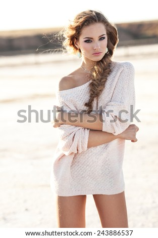 Gorgeous sexy young girl  - stock photo