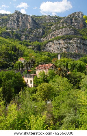 Gorges du Loup, south of France - stock photo