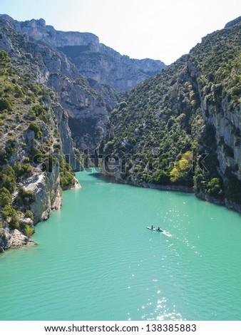 Gorges du Verdon or Grand canyon du Verdon - stock photo