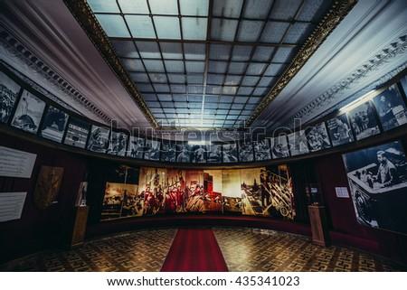 Gori, Georgia - April 23, 2015. Hall in Museum of Joseph Stalin in his hometown - Gori - stock photo