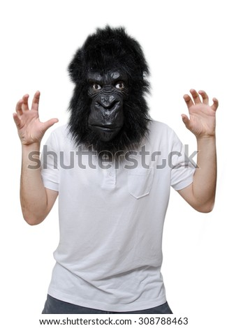 Gorilla man - stock photo