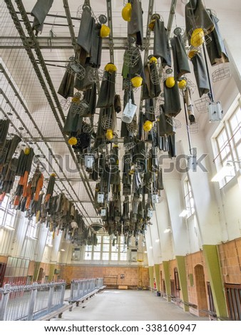 GOSLAR, GERMANY - SEP 9: Rammelsberg Mining Museum in Germany on September 9, 2013. Mines of Rammelsberg has become a UNESCO World heritage site since 1992. - stock photo