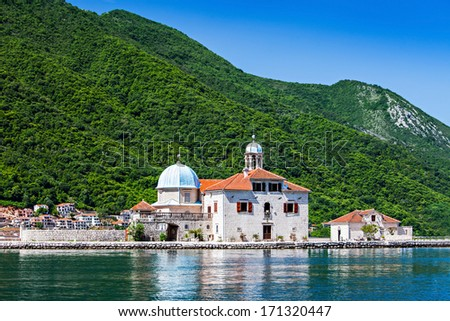 Gospa od Skrpjela (Our Lady of the Rocks), Perast - stock photo