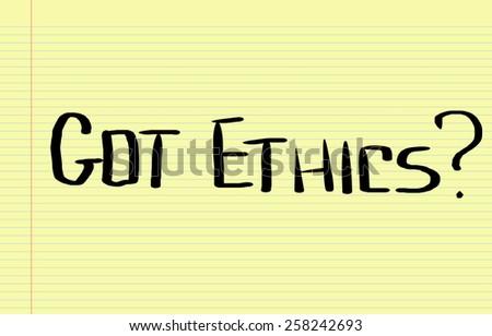 Got Ethics Concept - stock photo