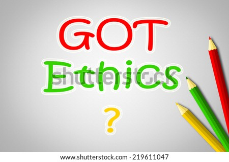 Got Ethics Concept text on background - stock photo