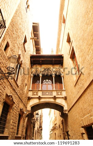 Gothic Architecture in Barcelona, Spain, Europe. - stock photo