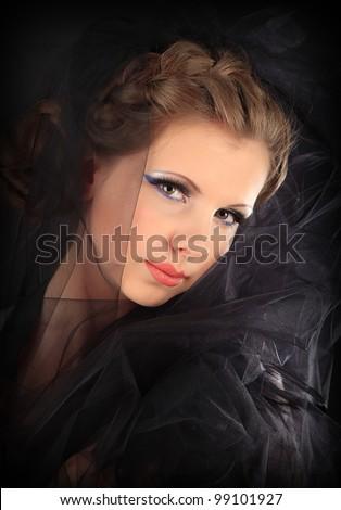 Gothic bride - stock photo