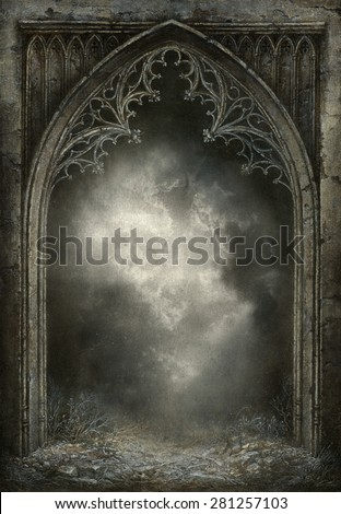 Gothic fantasy - stock photo