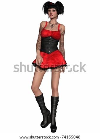 Gothic Girl - stock photo