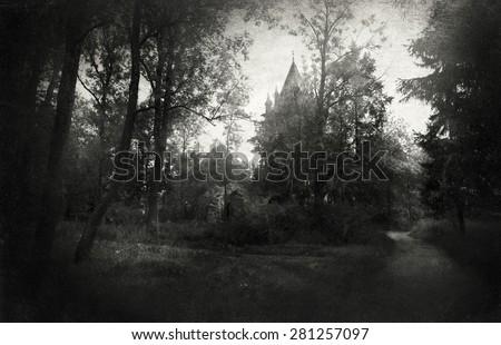 Gothic landscape - stock photo