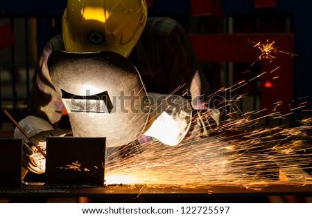 Gouging welding  metal - stock photo