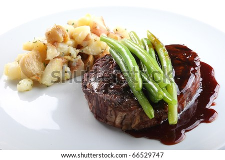 gourmet food - stock photo