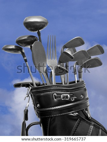 Gourmet Golf Package - stock photo