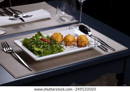 Gourmet meal - stock photo
