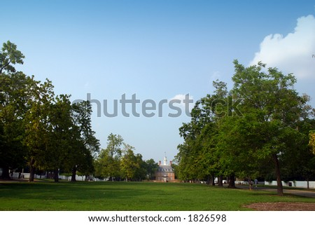 Governor's Mansion Colonial Williamsburg Wide - stock photo