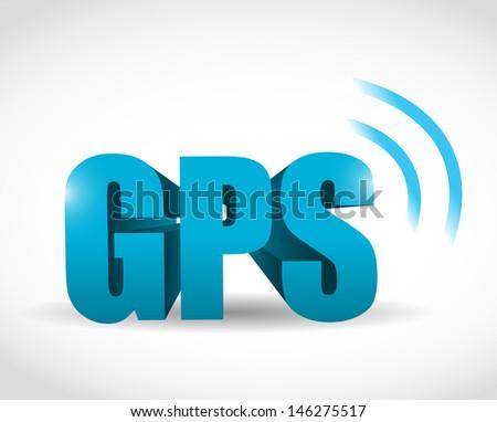 gps signal concept illustration design over white - stock photo