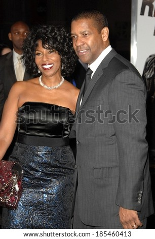 Grace Hightower, Denzel Washington at THE BOOK OF ELI Premiere, Grauman's Chinese Theatre, Los Angeles, CA January 11, 2010 - stock photo