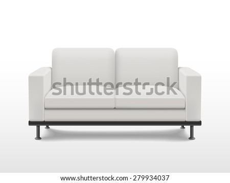 graceful blank sofa isolated on white background - stock photo
