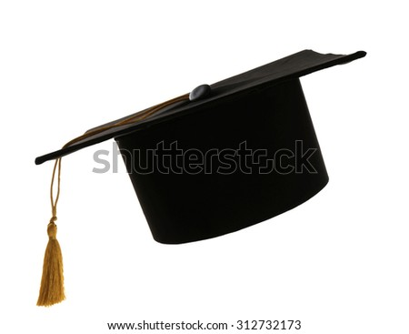 Grad hat isolated on white - stock photo